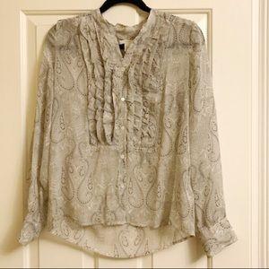 J. Crew paisley blouse